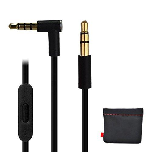 Cable de Repuesto para Auriculares Dr Dre Beats Monster con Mando a Distancia Pro Solo Studio … (negro)