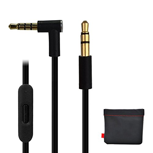 Replacement Cable For Dr Dre Beats Monster Headphones Control Remote Cord Pro Solo Studio Mixr Aux Auxiliary Lead (Black)