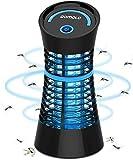 Qomolo Lampe Anti Moustique, UV Moustique Tueur Lampe Electrique Moustique Killer Lampe,Intérieur Destructeur De Moustique Zapper Lampe pour Répulsif Moustique, Mites, Mouches,Insectes, Noir