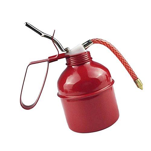 P Prettyia Lata de Aceite Grande de 500 Cc con Acción de Bomba de Pico Flexible Rojo