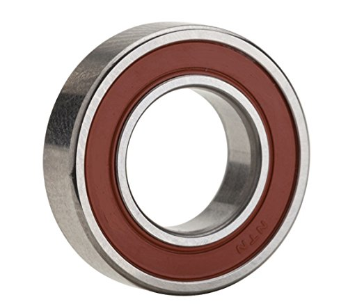 NTN Bearing 6203LLU Single Row Deep Groove Radial Ball Bearing, Contact, Normal Clearance, Steel Cage, 17 mm Bore ID, 40 mm OD, 12 mm Width, Double Sealed