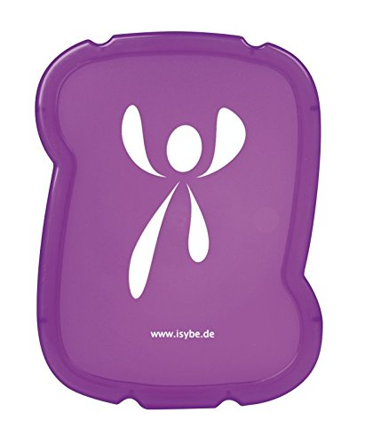 ISYbe Flexible Brotbox (schadstofffrei, spülmaschinengeeignet, geruchs- und geschmacksneutral) (Lila)