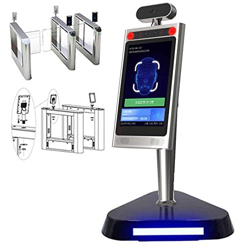 LVGOD AI Thermometer Stand Screening Kiosk Terminal Kiosk Contactless Face Recognition Temperature Measurement