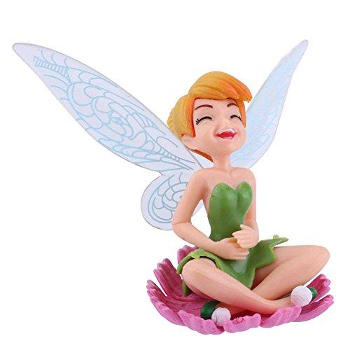Fees Mini Fleur avec des Ailes de Papillon Miniature Figurine Decoration d'ornement de Jardin 6 pcs