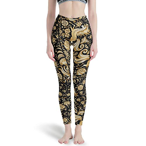 Charzee dames patroon yoga lange broek veilig en comfortabel Tights Comfort Casual sportbroek Tummy Control