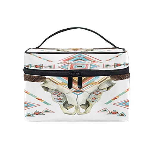 Bolsa de cosméticos nativa americana de viaje maquillaje tren casos organizador de almacenamiento