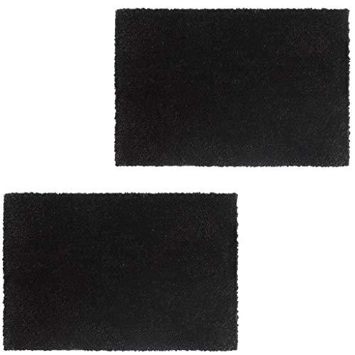 vidaXL 2X Fußmatte Kokos 17mm 40x60cm Schwarz Kokosmatte Schmutzfangmatte