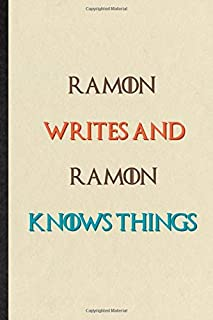 Ramon Writes And Ramon Knows Things: Practical Blank Lined Personalized First Name Notebook/ Journal, Appreciation Gratitu...
