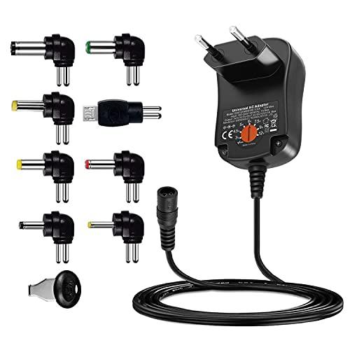Outtag 12W AC adaptador 3V 4,5V 6V 7,5V 9V 12V 1A 1000mA Alimentación cargador de red para Altavoces Cámara de TV Box LED Lámpara de audio Máquina CCTV Consola de juegos Routers ordenador portátil