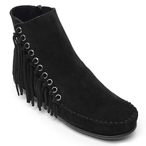 Minnetonka Women's Willow Boot Black Suede 8.5 M