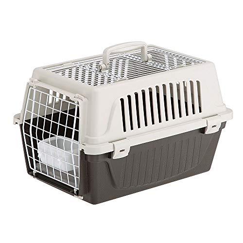 Ferplast Transportín para Perros Pequeños y Gatos hasta 5 Kg Atlas 10 Open, Almohada y Cuenco Incluidos, Techo Aprible ✅