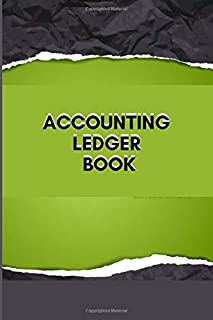 ACCOUNTING LEDGER BOOK: Simple Balance sheet or Cash Book Accounts Bookkeeping Journal for Small and big Businesses | Log, Track, & Record Expenses & Income
