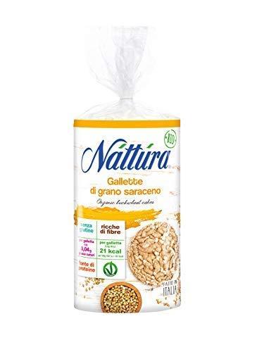 Nattura Gallette di Grano Saraceno Tonde Biologiche Senza Glutine Fonte di Fibre - 1 x 100 Grammi