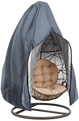Zerci Funda impermeable para silla de jardín con cremallera, 190 x 115 cm (190 x 115 cm, gris)