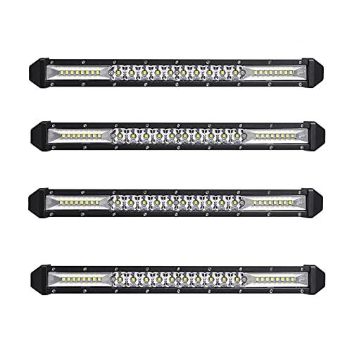 RKMJXJ 13/12 Pulgadas Ultra-Thin Fila de una Sola Fila Barra 90W LED LED Luz de Trabajo Luz Superior de la luz de la luz Modificado Luz de Niebla (Color : 12 Inch 78W, Size : C)
