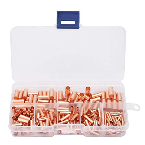 Tubo de unión eléctrica, 250 piezas de tubo de conexión de cobre...