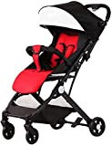 Suge Cochecito de bebé portable del carro del cochecito de bebé del cochecito de bebé Cochecito 2 en 1 Cochecito de niño for recién nacido Alta Vista Silla de paseo de plegado del cochecito rojo