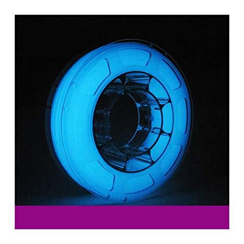 QingH yy PLA Filament 1.75mm White Glow in The Dark 3D Printer Filament 1 kg Spool, Dimensional Accuracy +/- 0.03 mm DYCS0820 (Color : Blue)
