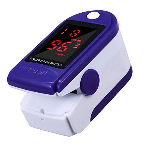 Oxímetro de pulso Staright portátil com ponta dos dedos Visor LED detector de saturação sanguínea preciso, adequado para uso doméstico / esportivo Entrar automaticamente no modo de espera no visor 5S, 2 direções azuis