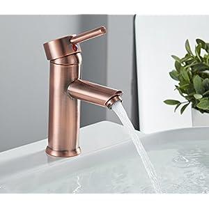 Greenspring Single Handle Bathroom Sink Faucet Stainless Steel One Hole Deck Mount Lavantory Copper