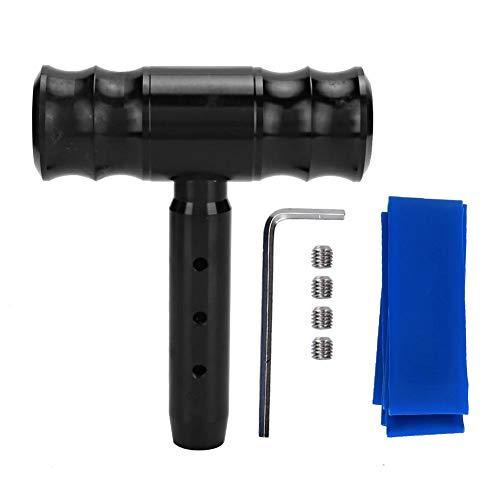 Gorgeri T-handvat versnellingsknop 0,47 in zwart schroef aluminium legering auto gemodificeerde vliegtuigen Joystick T-handvat Shift hoofd Gear knop