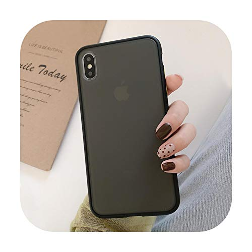 Who-care - Carcasa protectora para iPhone 11 11 Pro Max X Xr Xs Max 7 8 6 6S Plus simple transparente