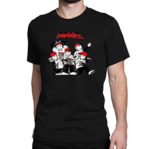 SHIQINQ Hombre Jabbawockeez Dance Summer Short Sleeve High Low Loose Camiseta T Shirt Basic Tees Tops