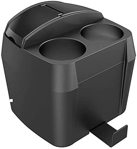 XQMY Cubo de Basura Interior Multifuncional Creativo Moda Cubo de Basura Compartimiento Cubo de Basura Accesorios para el automóvil Bote de Basura de Cocina (Color: Negro)