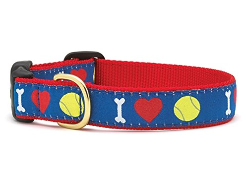 Up Country I Herz Tennis Hundehalsband, X-Large, Blau