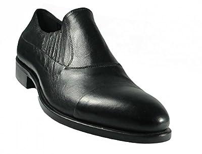 c07479fe68d9d Redwood 49102 Men's Italian Leather Slip On Dress Shoes in Black Don ...