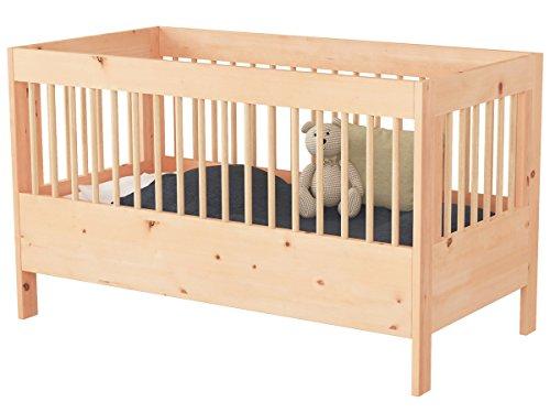 Modulares Babybett/Gitterbett aus Zirbenholz 60x120 cm | Zirbenbett aus Massivholz Zirbe/Zirbelkiefer/Arve | höhenverstellbar