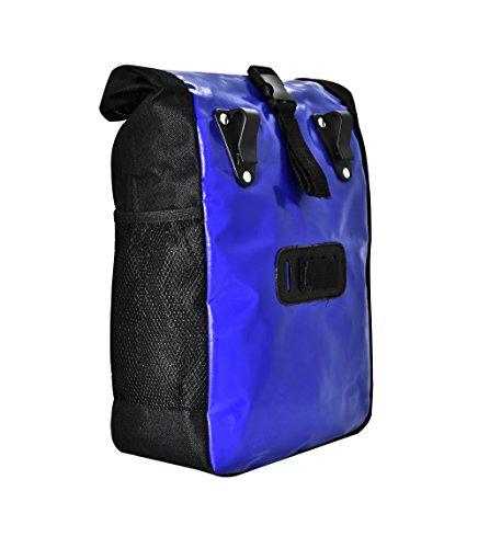 Büchel Fahrradtasche aus Tarpaulin zur Befestigung am Gepäckträger, blau, 81516013 - 2