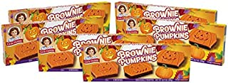Little Debbie Brownie Pumpkins, 6 Boxes, 30 Individually Wrapped Brownies
