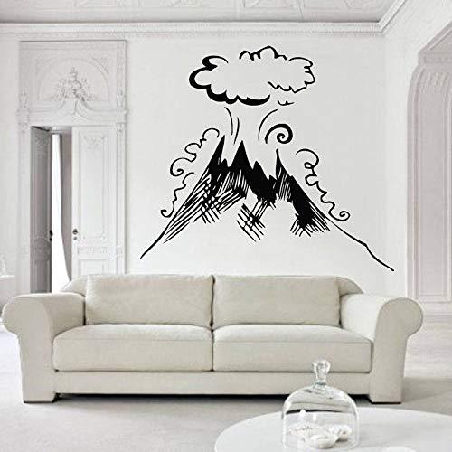 Muurtattoo vulkaan lava vuurwerk natuurlijke hawaiiaanse natuurlijke vinyl kunst muurstickers woondecoratie woonkamer kantoor decoratie
