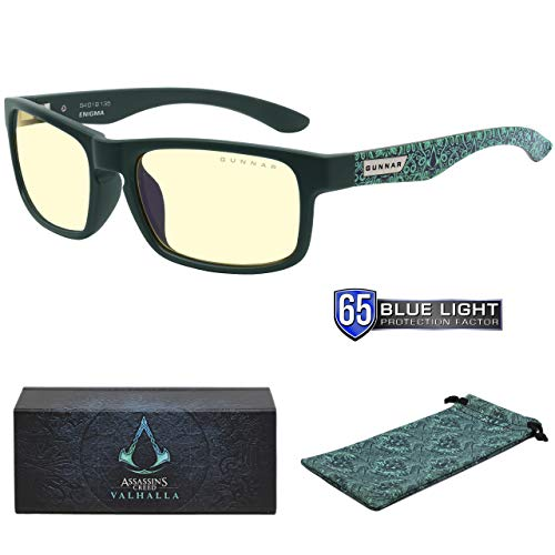 Gunnar Optiks Assassins Creed Valhalla Gaming Glasses - Enigma Teal/Amber Blue Light Blocking Glasses - Not Machine Specific
