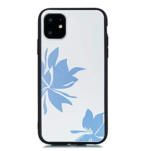 Miagon für iPhone 11 Pro (5.8 Zoll) Zurück Hülle,Blume Muster Gedruckt Entwurf Plastik Weich Bumper Flexibel Schützend HandyHülle