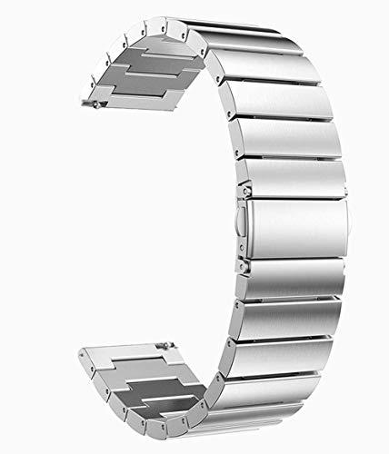 Reemplazo de la Correa de Reloj, Correas de Reloj 18 mm 20 mm 22 mm Banda de Reloj Universal Pulsera de eslabones de Repuesto de Acero Inoxidable para Samsung Gear S2 Classic S3 Frontier Classic com