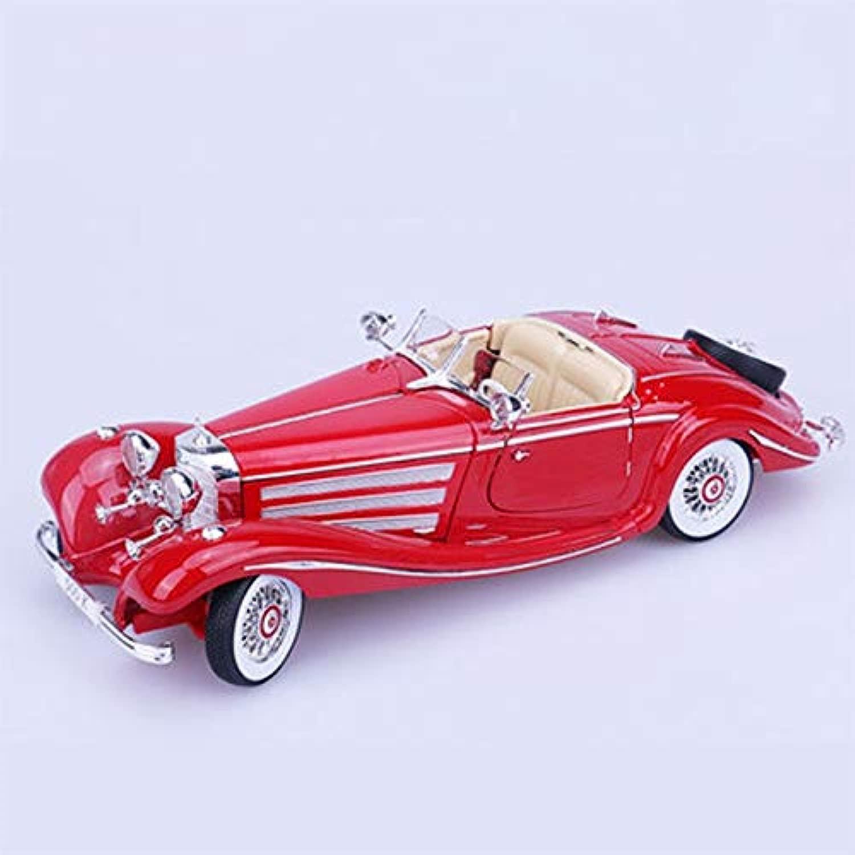 WSWJJXB modellolo in Lega 1 18 modellolo Auto in Lega di Simulazione, Dimensioni  28.9X10.6X7.4CM (Coloree   rosso)