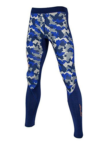 Sub Sports Fitted Kids Thermal Thermal Base Layer Leggings/Tights -Navy Camo 9-10 Years