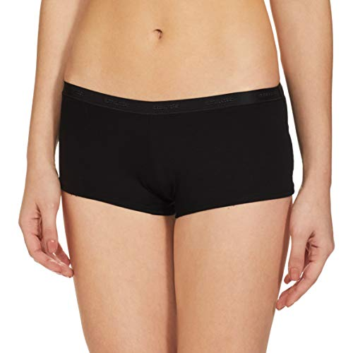 Amante Solid Low Rise Cotton Boyshorts Panty Pack (Pack of 2) Sprpl-Blk X-Large