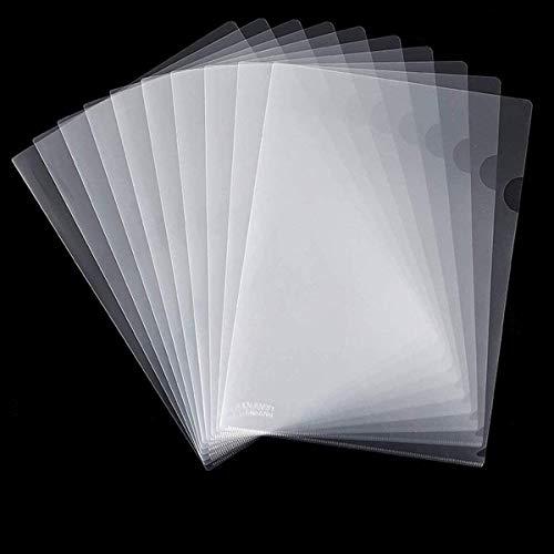 Fyess 50PCS Clear Plastic Document Folders, US Letter/ A4 Size 14C (1.4mm) Thick Clear Transparent Document Folders Copy Safe Project Pockets Lightweight Plastic Paper Jacket Sleeve Folders