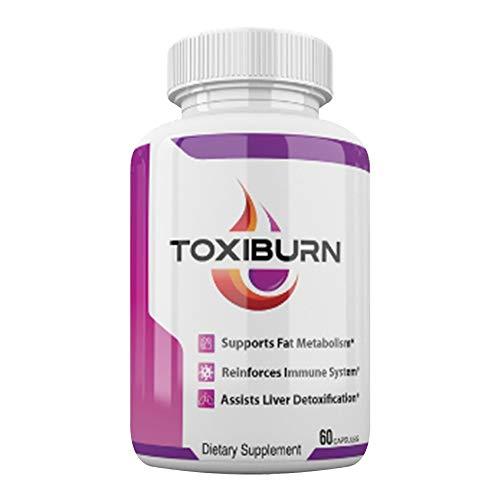Toxiburn Pills - Toxiburn Weight Loss Pills - Toxiburn Liver Cleanse - Toxiburn Diet Capsules (60 Pills - 1 Month Supply)