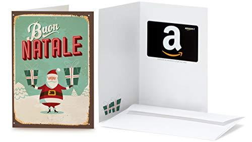 Buono Regalo Amazon.it - Biglietto d'auguri Babbo Natale Retrò