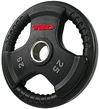 TKO Olympic 25 lb. Urethane Tri-Grip Plate
