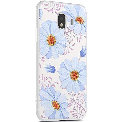 Surakey - Funda de silicona suave compatible con Samsung Galaxy J2 PRO 2018, Fiore Blu