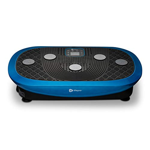 Rumblex Plus 4D Vibration Plate Exercise Machine - Triple Motor Oscillation, Linear, Pulsation + 3D/4D Motion Vibration Platform | Whole Body Viberation Machine for Weight Loss & Shaping. (Blue) by LifePro