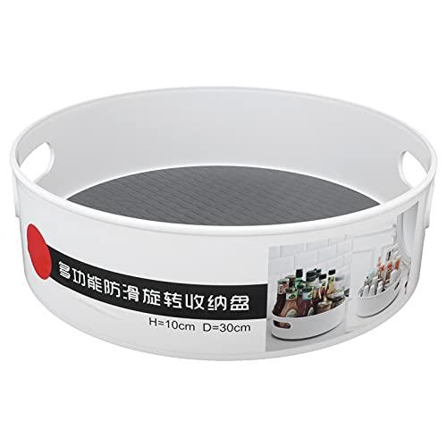 Plato giratorio de cocina, organizador de plato giratorio duradero de diseño simple para almacenamiento de baño para almacenamiento de cocina para almacenamiento de sala de estar