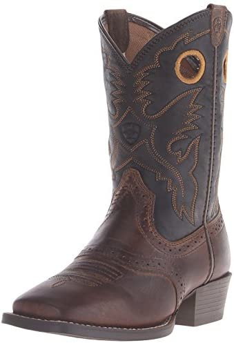 Kids Roughstock Western Cowboy Boot Distressed Brown Black 13 5 M US Little Kid product image