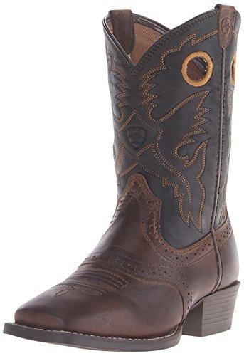 Kids' Roughstock Western Cowboy Boot, Distressed Brown/Black, 13.5 M US Little Kid