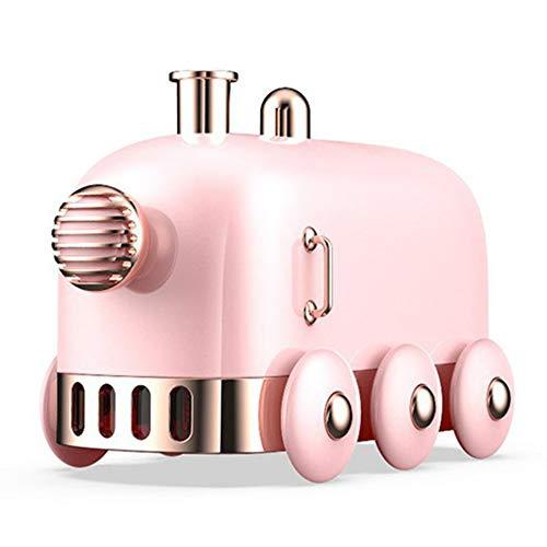 #N/V Humidificador ultrasónico retro mini tren USB difusor de aire de aceite esencial niebla fabricante de niebla con luz LED de color de 300 ml